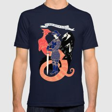 The Knight, Death, & the Devil Navy Mens Fitted Tee X-LARGE