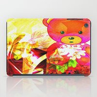 arnold iPad Cases featuring Arnold celebrates Christmas by shiva camille