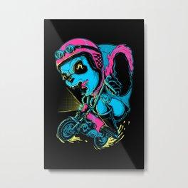 Panda Rider Metal Print