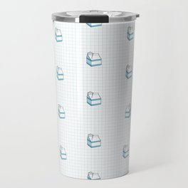 Milk Carton Pattern  Travel Mug