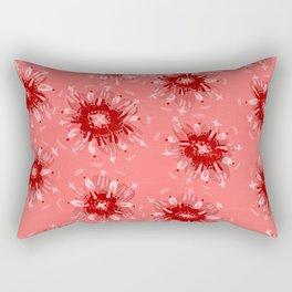 Red Christie Rose Rectangular Pillow