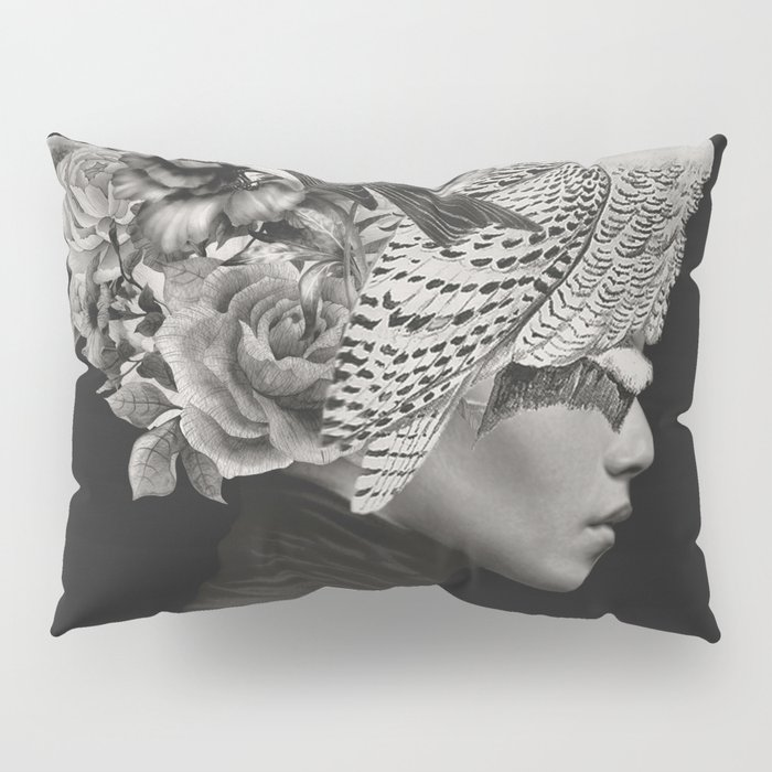 Lady with Birds(portrait) Pillow Sham
