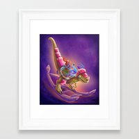 warcraft Framed Art Prints featuring Raptor Swing - Warcraft by Heartmedia