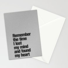 Remember The Time... Stationery Cards