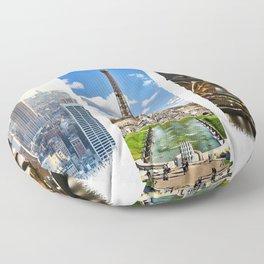 Three Cities Floor Pillow