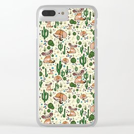 Fennec Foxes Clear iPhone Case