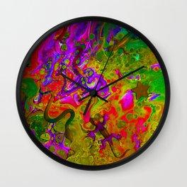 Rainbow Snakes Wall Clock