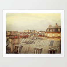 Living in Paris Art Print