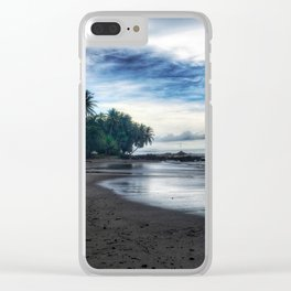 Silver Oceans Clear iPhone Case