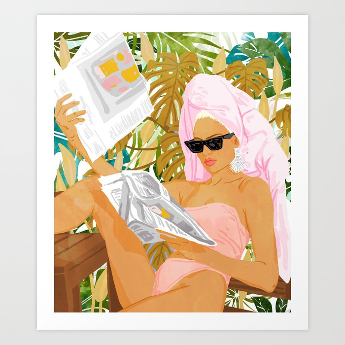 Vacay News #illustration #painting Art Print