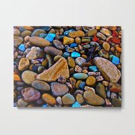 River Rock Metal Print