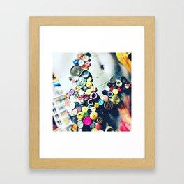 Button Underwear Framed Art Print