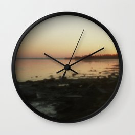 Sea through the pinhole camera Wall Clock