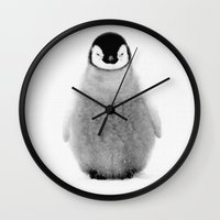 penguin Wall Clocks featuring PENGUIN by Ylenia Pizzetti