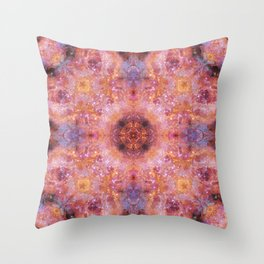 Cosmic Light Mandala Throw Pillow