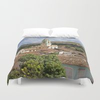 cuba Duvet Covers featuring Trinidad, Cuba by Parrish