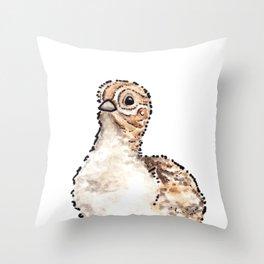Bird no. 416: Lil Puff Throw Pillow