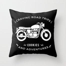 Bonneville - Road Trips Throw Pillow