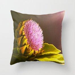 artichokes flower Throw Pillow