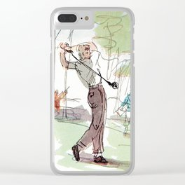 Are You Looking At My Putt? Clear iPhone Case