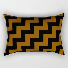 Black and Chocolate Brown Steps RTL Rectangular Pillow