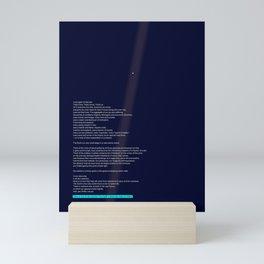 pale blue dot Mini Art Print