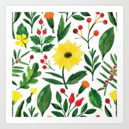 Botanic Watercolor Collection #16 Art Print