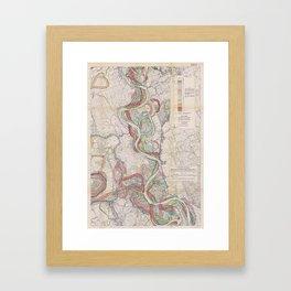 Harold N. Fisk Plate 22-13 Mississippi River Meander Belt Framed Art Print