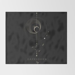 Capricorn Zodiac Constellation Throw Blanket