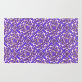 Abstract Floral Pattern 1 Rug