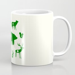 Nature Trail in Forest Green and Cream Coffee Mug
