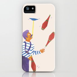 A circus performer named Brian. iPhone Case