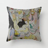 farm Throw Pillows featuring farm by Dan Feit