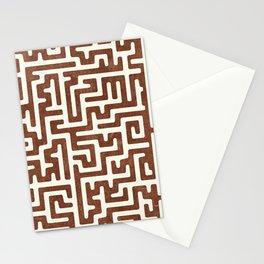 maze in brandywine Stationery Cards
