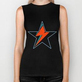 Bowie BlackStarDust (Blue) Biker Tank
