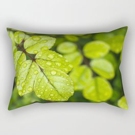 Plant Patterns - Green Scene Rectangular Pillow
