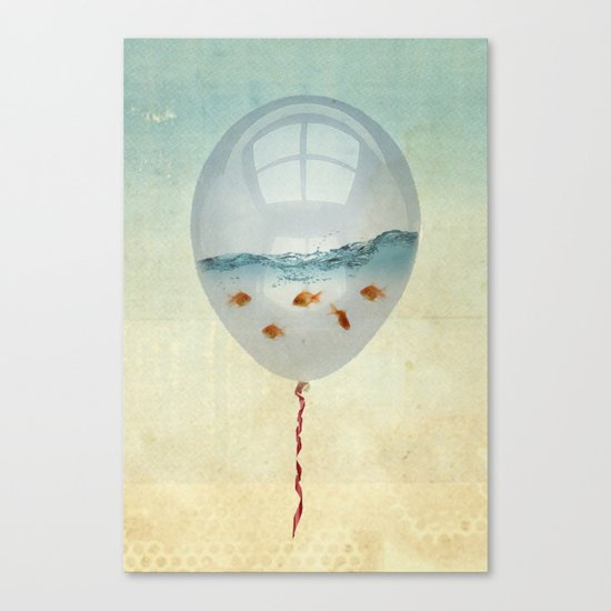 balloon fish o2, freedom in a bubble Canvas Print