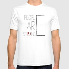People Are Strange Mens Fitted Tee SMALL White
