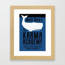 The Moby Dick Academy of Karma Framed Art Print