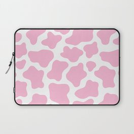 Pink Cow Print Laptop Sleeve