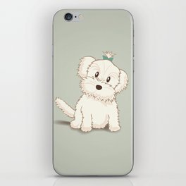 Maltese Dog Illustration iPhone Skin