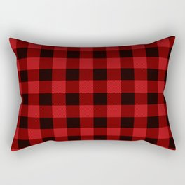 Red Buffalo Plaid Rectangular Pillow