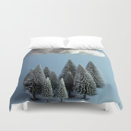 A cloud over the forest Duvet Cover