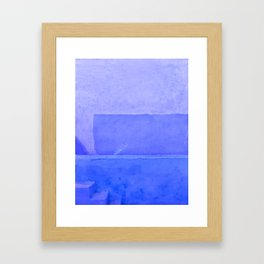 Blue City of Chefchaouen in Morocco Framed Art Print