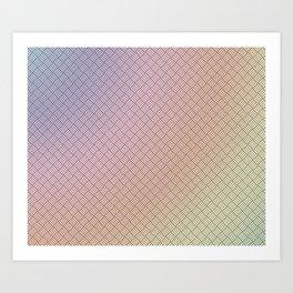 Boxed (gradient) Art Print