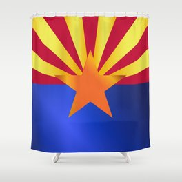 Arizona State Flag Gloss Shower Curtain