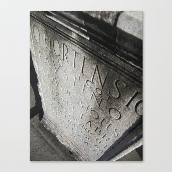 wisdom in stone. Canvas Print