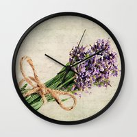 lavender Wall Clocks featuring Lavender by ThePhotoGuyDarren