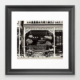 Old Coffee shop Framed Art Print