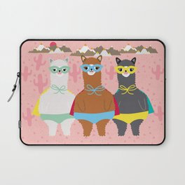 Alpaca Superheroes I Laptop Sleeve